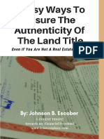 5 Easy Ways to Check the Authenticity of the Land Title