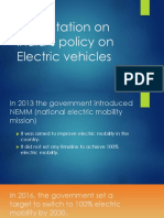 Presentation on India's policy on Electric vehicles.pptx