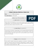 Format Rencana Proposal Penelitian Sejarah
