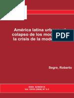 América latina urbana el colapso de los modelos en la crisis de