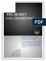 SSC JE 2017 1200 Questions