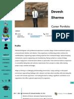 Career Design Portfolio Devesh Sharma