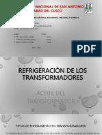Refrigeración de Los Transformadores