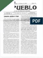 1914 01 07 EL PUEBLO Alcañiz Teruel #023