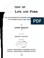 A Besant - Evolution of Life and Form