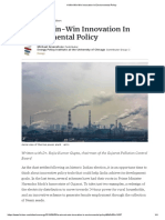 A Win-Win-Win Innovation in Environmental Policy