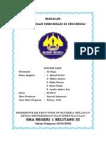 Pelaksanaan Demokrasi Di Indonesiaa