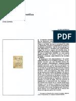 Sobre La Creación Científica Lomnitz 1982