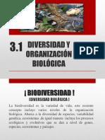 3.1 Diversidad y Organizacion Biologica