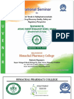 National Seminar on Recent Trends in Radiopharmaceuticals in Drug Discovery -Quality, Safety and Regulatory Perspective Sponsored by ATOMIC ENERGY REGULATORY BOARD, MUMBAI