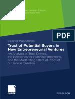 Trust of Potential Buyers in New Entrepreneurial Ventures