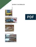Equipos y Materiales Cuestionario 1 y 2