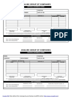 Official Business Form Template