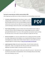 Top Tips Written Communication Skills