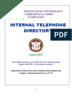 Internal telephone director