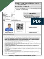 Ram_admit Card NIMCET2019-19120436