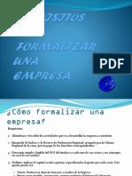 Requisitos Para Formalizar Una Empresa