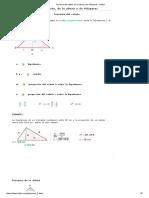 Teorema Del Cateto, De La Altura y de Pitágoras - Vitutor