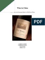 Wine in China Analysis