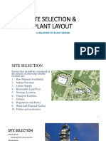 SITE SELECTION  PLANT LAYOUT.pptx