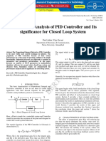 Performance Analysis of Pid Controller and Its Significance for Closed Loop System IJERTV3IS031489