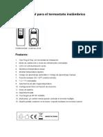 ES-TS-808 El Manual Para El Termostato Inalámbrico