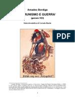 Amadeo Bordiga Comunismo e Guerra Gennaio 1923