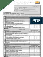 Inventario para la identificación de las AS Oct 2010