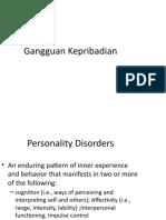 Pertemuan 12 Gangguan Kepribadian