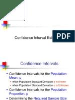 3. Confidence Intervals