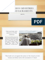 Mission Ministries and Sacraments(No Video)