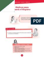 MEDIMOS PESO USANDO EL KILOGRAMO