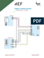 Sche_ma d'Installation Interphone Somef - Bpt 21x297cm