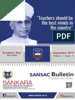 SANSAC Bulletin September 2019 Issue