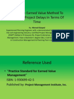 EVM GeneralUsing The Earned Value Method To Calculate Project Delays In Terms Of Time