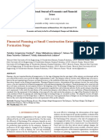 Financial Planning at Small Construction Enterprises at the Formation Stage[#352382]-363281