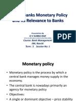 1. Monetary Policy