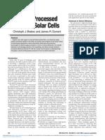 Solutionprocessed Organic Solar Cells