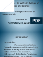 Biological Method Synthesis of Nanoparticles