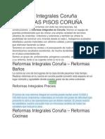REFORMAS PISOS CORUÑA
