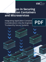 Challenges in Securing Application Containers and Microservices