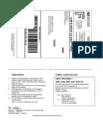 Shiping label sample