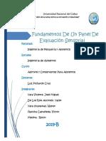 Funcionamiento de Un Panel de Evaluacion Sensorial