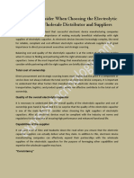 Choosing the Electrolytic Capacitor Wholesale Distributor and Suppliers