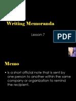 6. Writing Memoranda