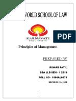 Principles of Management Rishab