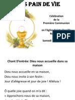 Presentation 1ere Communion 2017