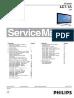 9619 Philips 42PFL5332 Chassis LC7.1A-LA Televisor LCD Manual de Servicio Parcial