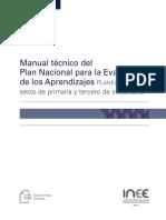 INEE-Manual Técnico Del Plan Nacional Para La Evaluación de Los Aprendizajes (2018)