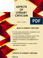 Aspects of Literary Criticism